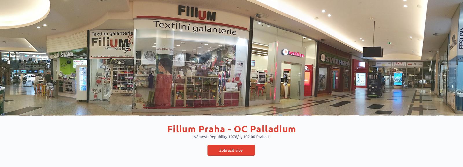 Prodejna Filium OC Palladium